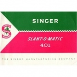 Instruction Manual, Singer 401A