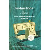 Instruction Manual, Singer 457 Stylist