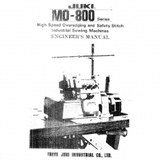 Service Manual, Juki MO-804