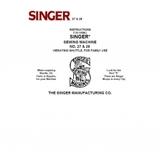 Instruction Manual, Singer 27