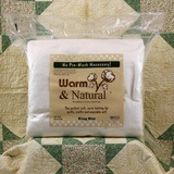 "Quilt Batting (King Size 124""x120""), Warm & Natural"