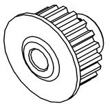 Lower Shaft Pulley, Juki #400-55826