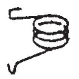 Bobbin Winder Spring, Pfaff #4160428-01