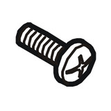 Bottom Cover Screw M4, Singer #61225