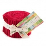 Christmas Red, Moda Bella Solids Fabric, Junior Jelly Roll