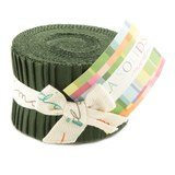 Pine, Moda Bella Solids Fabric, Junior Jelly Roll