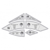 Diamond Wedding Ring 6pcs, Creative Grids