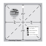 Charming 5in Square Template, Creative Grids