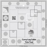 "Curvy Log Cabin Trim Tool 8"" Finished Blocks Creative Grids"