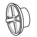 Handwheel, Babylock, Brother #XA9418001