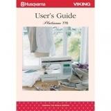 Instruction Manual, Husqvarna Viking Platinum 770