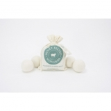 Wooly Felted Wonders, Dryer Balls - Bag of 4, White