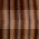 Homespun Orange and Brown Checkered Fabric