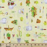 Wilmington Prints, From the Garden, Garden Tools Fabric