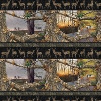 Realtree Daybreak Edge, Deer Stripe Fabric