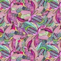 Boho Owls, Digitally Printed Owl Feathers Fabric