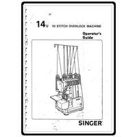 Instruction Manual, Singer 14U85