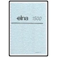 Instruction Manual, Elna 1500
