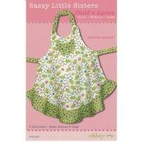 Sassy Little Sister Children's Apron, Cabbage Rose