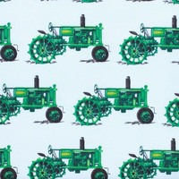 Everyday Favorites, Tractors Fabric, Green