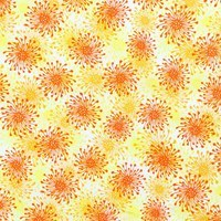 Quilting Treasures, Trust in You, Starburst Fabric, Orange