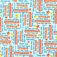 Quilting Treasures, Trust in You, Psalms Fabric, Aqua