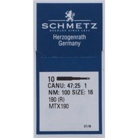 (10pk) Industrial Needles Size 100/16, Schmetz