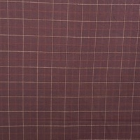 Homespun Red and Yellow Checkered Fabric