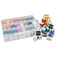 Madeira Overlock Inspiration Decorative Serger Thread Box - 48 Spools