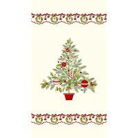 Ring in the Holly Days, Christmas Tree Fabric Panel
