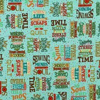 Quilting Treasures, Sewing Mends the Soul, Teal Fabric