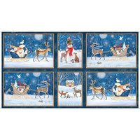 Quilting Treasures, Winter Vignette Patches Fabric Panel