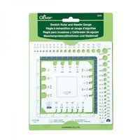Clover, Swatch Ruler and Needle Gauge