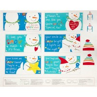 I Love You Snow Much Fabric Book Panel