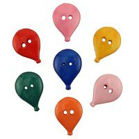 Birthday Balloons Button Bag - Pack of 7