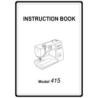 Instruction Manual, Janome 415