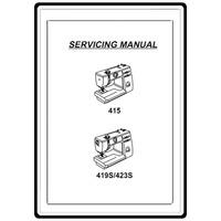 Service Manual, Janome 415