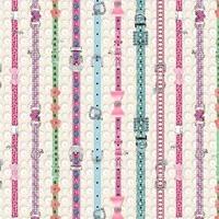 Kitty Glitter, Cat Collars Fabric