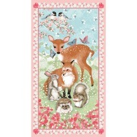Forest Friends Fabric Panel - 24in Wide