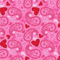 Hearts of Love, Paisley Hearts Fabric
