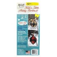 Bosal, Craf-Tex Double Sided Fusible Plus - Fold 'N Stitch Ornaments