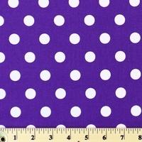 Moda Classic, Medium Dottie, Purple Fabric