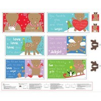 Huggable and Loveable, Holiday Fabric Book Panel - 36in