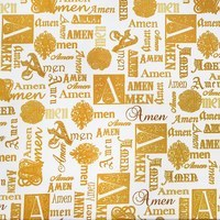Kanvas Studio, Bible Study, Amen Fabric - Cream