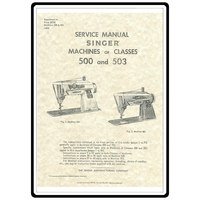 Service Manual, Singer 500 Slant-O-Matic