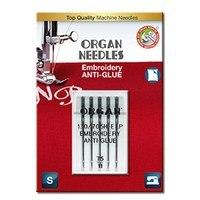 5pk Organ Anti-Glue Embroidery Needles (130/705H) -  Size 75/11