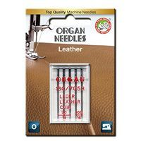 5pk Organ Leather Needles (130/705H) - Assorted Sizes 90-100