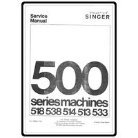 Service Manual, Singer 538 Stylist