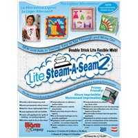"Lite Steam-A-Seam 2 Double Stick Fusible Web - 9""x12"" (5pk)"