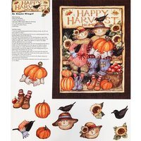 Harvest Couple Door Greeter Fabric Panel